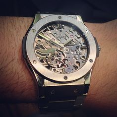 @Hublot_watches Classic Fusion 42mm watch in steel on bracelet #watch #watchporn #instawatches #ablogtowatch
