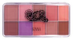Senna Cosmetics Slipcover Palette, Vivid Matte Blush and Lip, Ounce. 10 foundation shade palette^Cream to powder^HD, long wear and oil-free.
