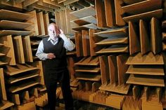 Orfield Laboratories' anechoic chamber, it's considered one of the quietest places in the world