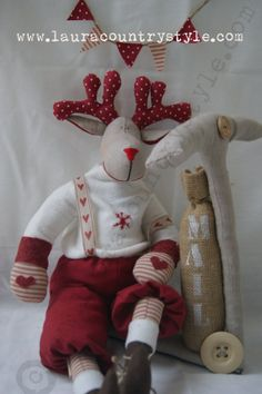 Christmas Reindeers Pattern PDF Sewing by lauracountrystyle, €13.00  english ,spanish and italian