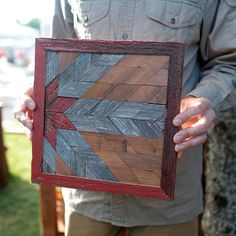 Our wooden quilt wall art, made with several shades of diamond cut browns, grays, and red barn wood, was inspired by the olden days - back to when everything was made by hand. Churning your own butter, tilling the land with horse and plow, washing your clothes down at the creek,