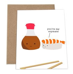 Who doesn't love Puns? Check out these adorable cards made by a company called ImPaper. Whatever the occasion may be, these cards make great entertainment. Soy check them out! (You'll understand the reference once you see them)
