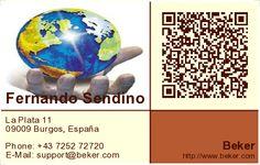 Cree tarjetas de visita con código QR! Creador de tarjetas de visita 2D meCard, vCard gratuito.