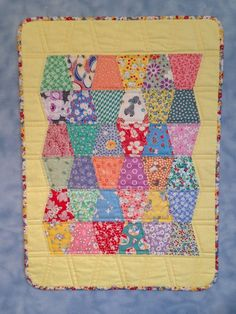 "NEW Handmade Quilt Finished Wall Doll Tumbler Charm Vintage Style TOP 17"" X 24"" 