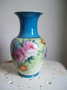 Noritake Nippon Blue Flowers Vase