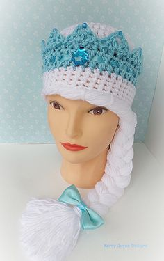 New! 'The Snow Queen' Crochet hat pattern. Would make a lovely christmas present ! It comes in 3 sizes and its available on Ravelry, Craftsy and Etsy.