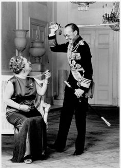 Queen Juliana and Bernhard. Great photo. Funny.