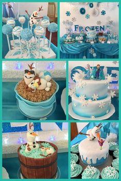 """Frozen (Disney) / Birthday """"Frozen party for Maddie"""" Olaf Party, Frozen Themed Birthday Party, Disney Frozen Party, Disney Birthday, Frozen Birthday Party, 3rd Birthday Parties, Frozen Party Food, Birthday Cake, Turtle Birthday"""
