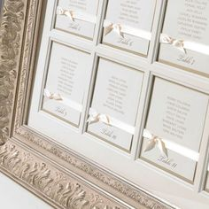 Image Detail for - Finer Details :: Luxury Framed Table Plans :: Seating Plan
