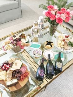 Champagne tasting and appetizers