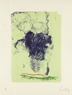 Helen Frankenthaler / found on www.kunzt.gallery / Reflections XI, 1996 / Lithograph
