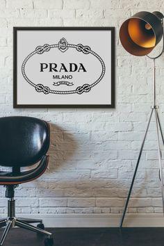 Prada Milano Print Prada Print Typography by InfinitePrintables