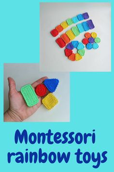 Rainbow baby montessori toys / Eco friendly educational montessori materials / Memory and matching game / Open ended waldorf toys Learning Games For Kids, Learning Colors, Montessori Baby Toys, Montessori Bedroom, Organic Baby Toys, Educational Baby Toys, Rainbow Crochet, Baby Sensory, Waldorf Toys