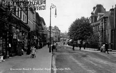A Harold Camburn photo. These shops are opposite Goods Station Road. Pictures To Paint, Old Pictures, Old Photos, Vintage Photos, Tunbridge Wells, Surrey, First World, Birmingham, Street View