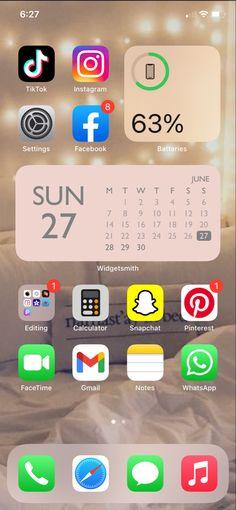 Iphone Home Screen Layout, Iphone Layout, Snapchat Nicknames, Iphone Wallpaper Ios, Phone Organization, App Logo, Facetime, Ios App, Homescreen