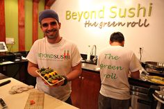 Guy Vaknin, the chef and owner of Beyond Sushi -- mostly vegan sushi
