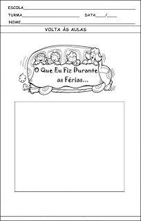 Atividades prontas para imprimir: Volta às aulas