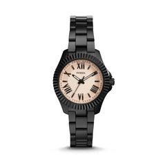 Fossil Cecile Small Three-Hand Stainless Steel Watch - Black  FOSSIL® Watch Collections