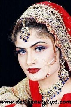 nice Pakistani Bridal Makeup Pakistani Makeup Looks, Pakistani Bridal Makeup, Beautiful Blonde Girl, Beautiful Bride, Nose Jewelry, Muslim Fashion, Bridal Make Up, Indian Beauty, Bridal Jewelry