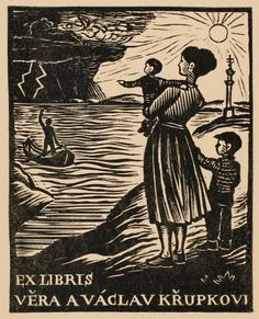 Bookplate (or ex libris) by Michael Florian (1963).