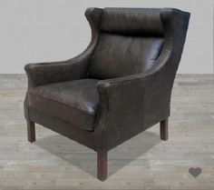 #Mountain_Black_Leather_Armchair