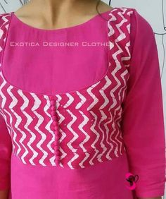 neck designs for your stylish look - Simple Craft IdeasKurtis neck designs for your stylish look - Simple Craft Ideas Salwar Poncha Design with Gotta Patti Lace Chudidhar Neck Designs, Salwar Neck Designs, Churidar Designs, Neck Designs For Suits, Kurta Neck Design, Sleeves Designs For Dresses, Dress Neck Designs, Kurta Designs Women, Stylish Dress Designs