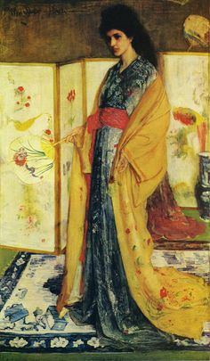 The Princess from the Land of Porcelain by James Abbott McNeill Whistler, 1864