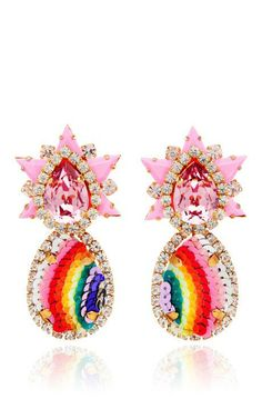 Galaxy Sequin Earrings In Rainbow by Shourouk for Preorder on Moda Operandi