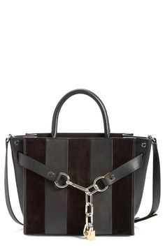 8f3eb94b309981 Alexander Wang 'Attica' Leather & Suede Satchel Black Handbags, Leather  Handbags,