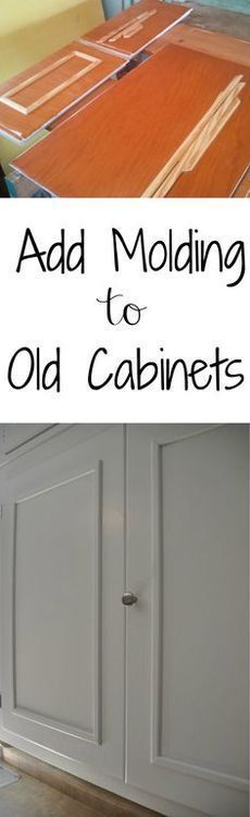 How to Add Cabinet Molding-if we ever renovated an old kitchen. Love the detail it adds