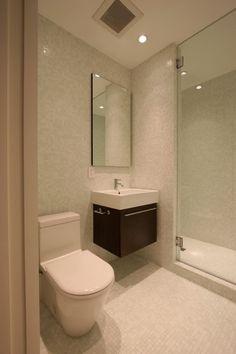 : Elegant White Mosaic Bathroom Modern Bathroom Design Interior Completed With Small Bathroom Vanities Furniture Modern Small Bathrooms, Bathroom Layout, Modern Bathroom Design, Basement Bathroom, Amazing Bathrooms, Bathroom Designs, Bathroom Ideas, Bathroom Small, Simple Bathroom