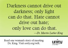 A quote from Dr. Martin Luther King