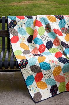 I'm so excited to show you my finished Squiggles quilt! As I mentioned last week, the wavy line quilting went quickly and as so relaxing. Rag Quilt, Scrappy Quilts, Baby Quilts, Quilt Blocks, Charm Pack Quilts, Charm Quilt, Layer Cake Quilts, Foundation Paper Piecing, Quilting Projects