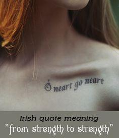 Irish tattoo saying and meaning
