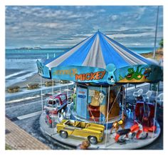 Manège de la plage à Dinard