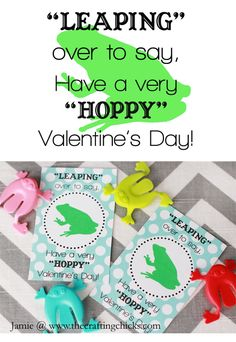 Leaping over to say, Have a very HOPPY Vaalentine's Day! - free printable