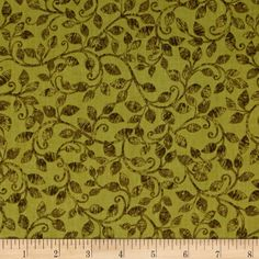 Leaf Into Autumn Scroll Olive from @fabricdotcom  Designed by Maria Kalinowski for Kanvas Studio this cotton print fabric is perfect for quilting, apparel and home decor accents. Colors include shades of green.