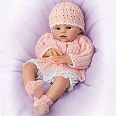 Abby Rose So Truly Real Award-Winning Lifelike, Realistic Newborn Baby Doll by The Ashton-Drake Galleries Real Baby Dolls, Realistic Baby Dolls, Real Doll, Baby Girl Dolls, Boy Doll, Reborn Dolls, Reborn Babies, Reborn Toddler, Toddler Dolls