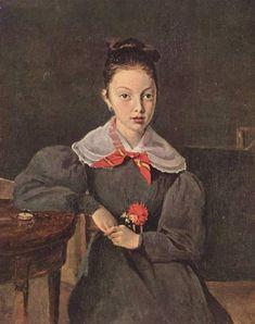 Portrait of Octavie Sennegon, 1833, Camille Corot