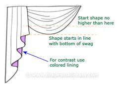 Swags and tails tutorial