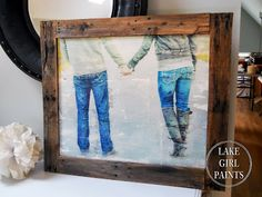 Lake Girl Paints: Large Photo Transfer Art for $15 - with Pallet Frame