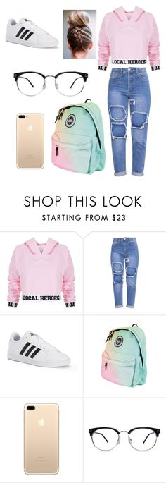 """""""school outfit"""" by mantakarla ❤ liked on Polyvore featuring Local Heroes and adidas"""