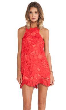 Lovers + Friends Caspian Shift Dress in Coral