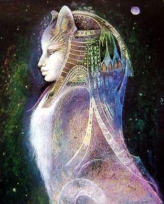 Bast by Susan Seddon Boulet #goddess #art