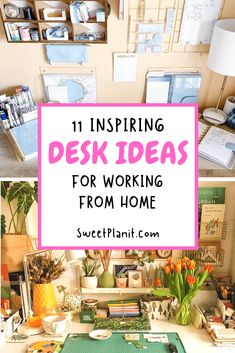 11 Inspiring Desk Ideas for Working From Home + Inexpensive Desks for Your Home Office and Ideas on a Budget! Home Desk, Home Office Space, Home Office Design, Stationary Organization, Desk Organization, Organizing, Setting Goals At Work, Metal Wall Grid, Washi Tape Planner