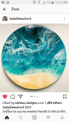 My name is Marie Antuanelle, I'm a Sydney-based Russian-born seascape abstract artist. Painting is a therapeutic meditation for me, it keeps me sane and alive. Flow Painting, Drip Painting, Artist Painting, Resin Wall Art, Resin Artwork, Acrylic Pouring Art, Acrylic Art, Art Folder, Fluid Acrylics