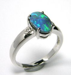 K18 White Gold, Black Opal Ring ORK050 This is what I really really want..............