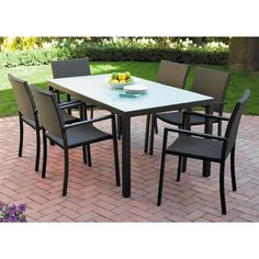 KSP Cestino Outdoor Patio Table & Chair - Set of 7