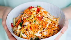 Vietnamese Chicken Salad, My Cookbook, Vegetable Sides, Food N, Coleslaw, Food Inspiration, Salad Recipes, Cabbage, Vegetables