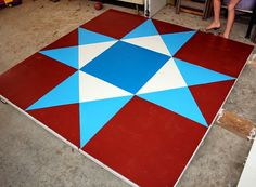 Part 4–the Reveal: How to Make a Barn #Quilt , 2014 Edition  #barnquilt  #ohiostar